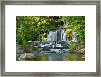 Waterfall At Lake Katherine 2 Framed Print
