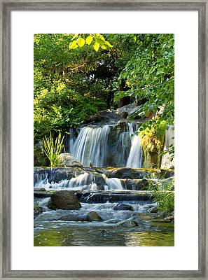 Waterfall At Lake Katherine Framed Print