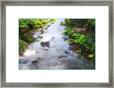 Waterfall At Longwoods Framed Print by Sonali Gangane