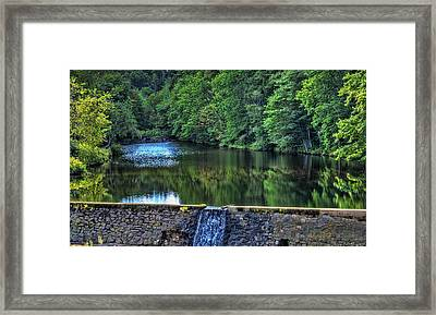 Waterfall At Minas Basin Pulp And Power Co   Framed Print by Ken Morris