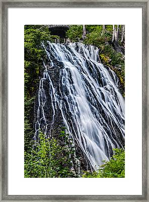 Waterfall At Mt. Rainier Framed Print