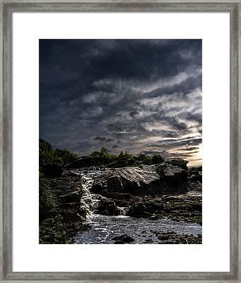 Waterfall At Sunrise Framed Print by Bob Orsillo