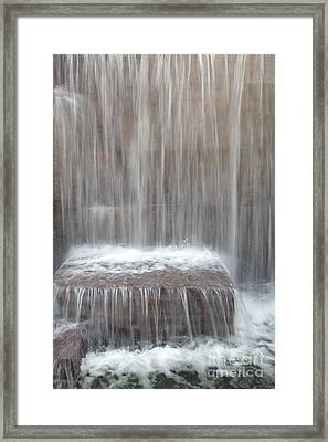 Waterfall At The Fdr Memorial In Washington Dc Framed Print by William Kuta