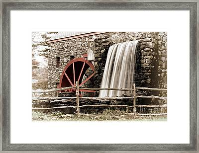 Waterfall At The Mill Framed Print by Jayne Carney