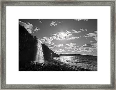 Waterfall Gulf Of Maine Bay Of Fundy Framed Print