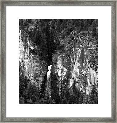 Waterfall By Marble Colorado Framed Print by Robert Lozen