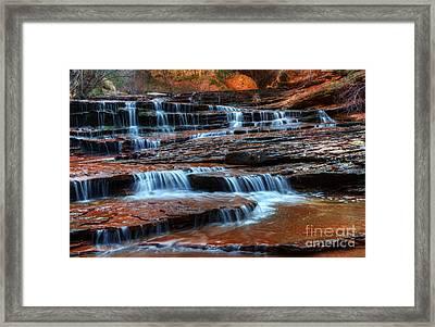 Waterfall Cascade North Creek Framed Print