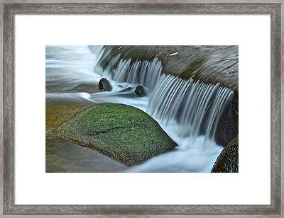 Waterfall Close Up Framed Print by Frozen in Time Fine Art Photography