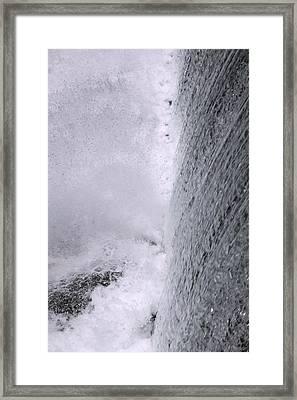 Waterfall Close-up Framed Print