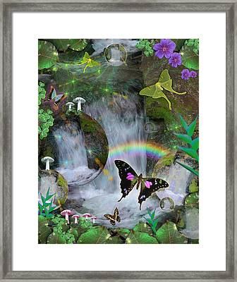 Waterfall Daydream Framed Print by Alixandra Mullins