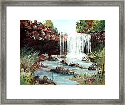 Framed Print featuring the painting Waterfall by Dorothy Maier