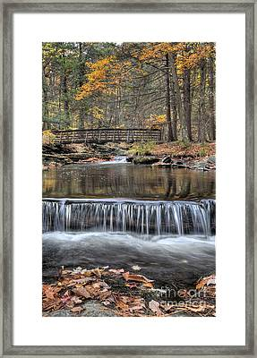 Waterfall - George Childs State Park Framed Print