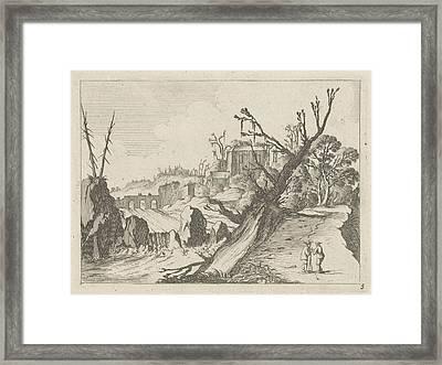 Waterfall, Gillis Van Scheyndel Framed Print by Gillis Van Scheyndel (i)