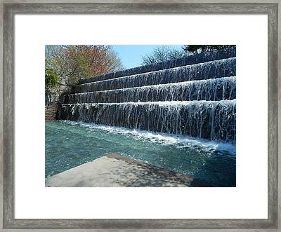 Framed Print featuring the photograph Waterfall Heaven by Emmy Marie Vickers