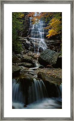 Waterfall In A Forest, Arethusa Falls Framed Print