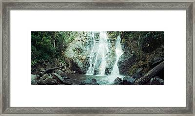 Waterfall In A Forest, Chiang Mai Framed Print