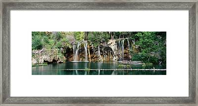 Waterfall In A Forest, Hanging Lake Framed Print