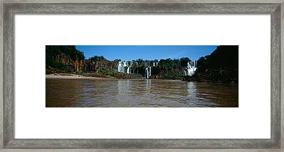 Waterfall In A Forest, Iguacu Falls Framed Print