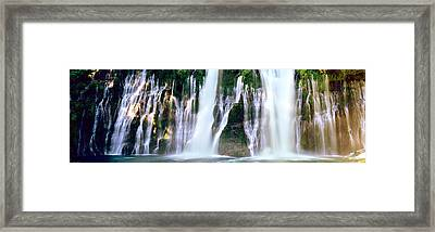 Waterfall In A Forest, Mcarthur-burney Framed Print