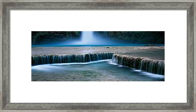 Waterfall In A Forest, Mooney Falls Framed Print by Panoramic Images