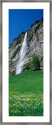 Waterfall In A Forest, Murrenbach Framed Print