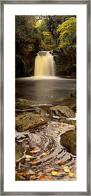Waterfall In A Forest, Thomason Foss Framed Print by Panoramic Images