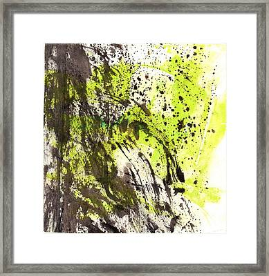 Framed Print featuring the painting Waterfall In Abstract by Lesley Fletcher