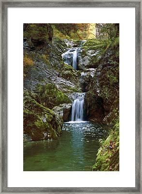 Waterfall In Austria Lassingfall Framed Print by Thomas Aichinger