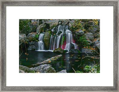 Waterfall In Boise Framed Print by Vishwanath Bhat