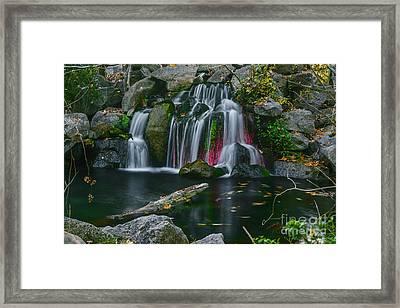 Waterfall In Boise Framed Print