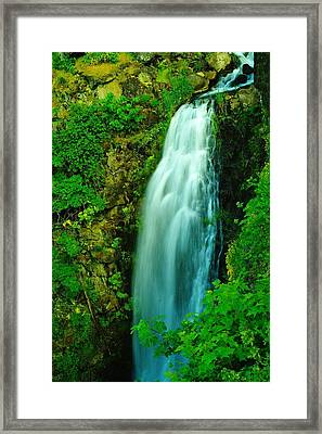 Waterfall In Hood River Oregon Framed Print by Jeff Swan