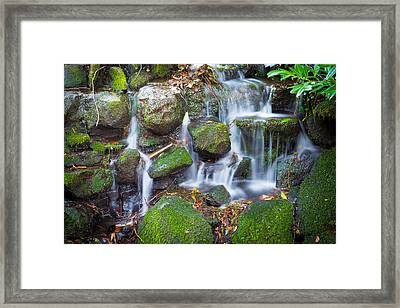 Waterfall In Marlay Park Framed Print