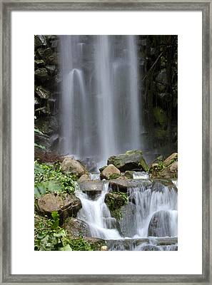 Framed Print featuring the photograph Waterfall In Singapore by Shoal Hollingsworth