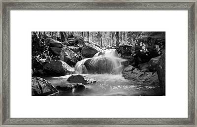 Waterfall In Southeastern Oklahoma Framed Print