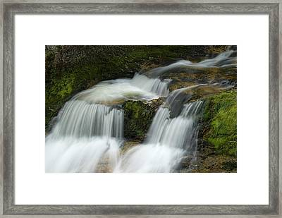 Waterfall In The Clammy Framed Print