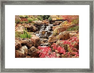 Framed Print featuring the photograph Waterfall In The Garden by Elizabeth Budd