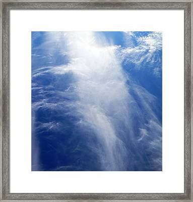 Waterfall In The Sky Framed Print