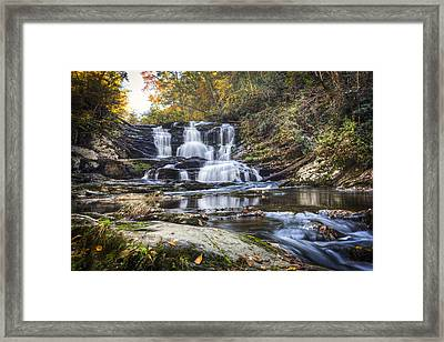 Waterfall In The Smokies Framed Print by Debra and Dave Vanderlaan