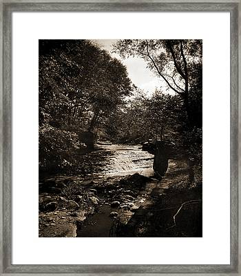 Waterfall In Wade Park, Cleveland, Ohio, Waterfalls Framed Print by Litz Collection