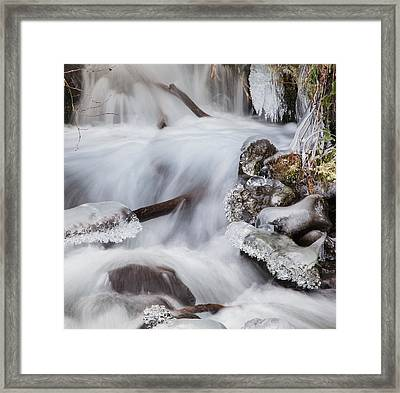 Waterfall Jewels Framed Print by Angie Vogel