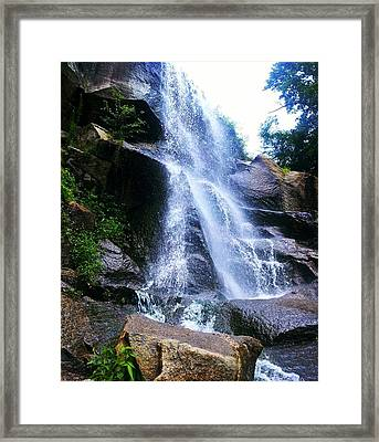 Waterfall  Framed Print by Kiara Reynolds