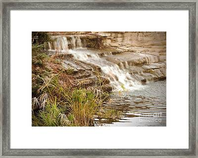 Waterfall Framed Print by Kimberly  Maiden