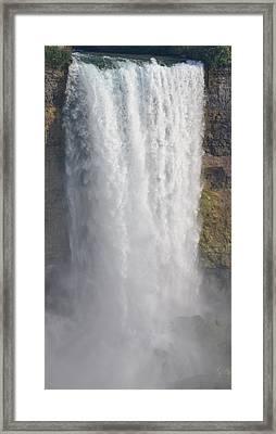 Waterfall Framed Print by Kiros Berhane