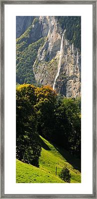 Waterfall, Lauterbrunnen Valley Framed Print