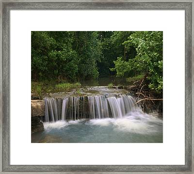 Waterfall Lee Creek Ozarks Arkansas Framed Print by Tim Fitzharris