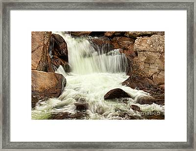 Waterfall Framed Print by Lena Auxier
