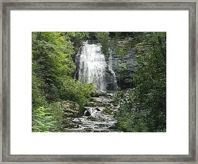 Waterfall Framed Print by Linda Brown