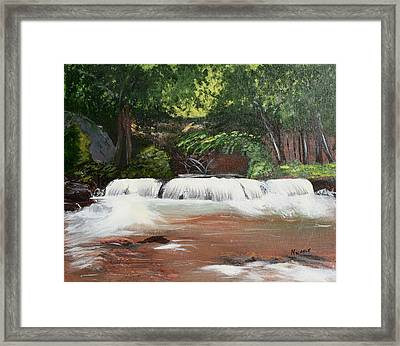 Waterfall Magic Framed Print