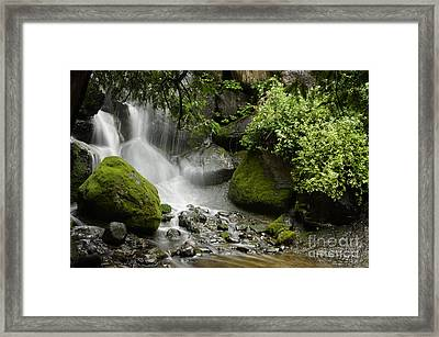 Waterfall Mist Framed Print