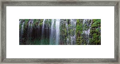 Waterfall, Mossbrae Falls, Sacramento Framed Print by Panoramic Images